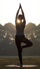 Woman doing yoga practice