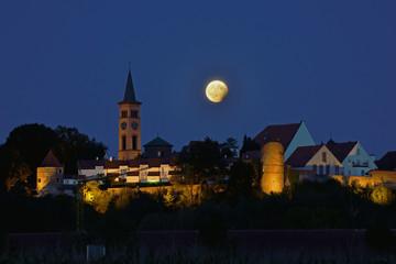 partielle Mondfinsternis in Friedberg