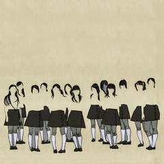 Faceless Japanese Schoolgirls