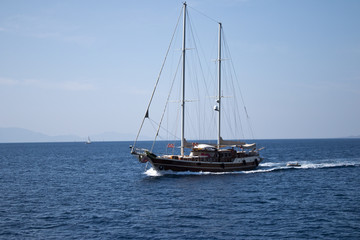 Sailing Gulet Yatch Offshore to Kos island greece