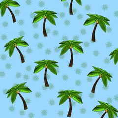 Palm tree blue background