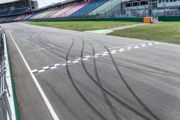 Rennstrecke Start Grid