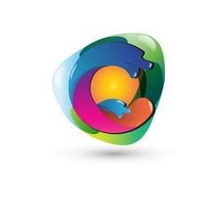 c Logo - Abstract Letter c 3D Logo