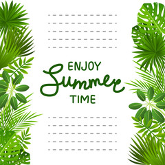 Tropical leaves background for Your design