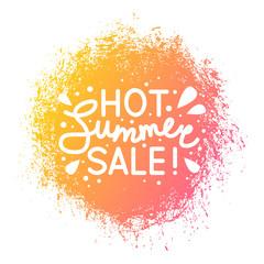 Summer sale message on color design element