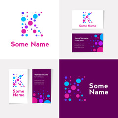 Search photos k letter creative letter k design vector template on the business card template abstract colorful alphabet spiritdancerdesigns Images