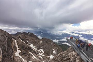 Skywalk at Hunerkogel mountain Dachstein Austria