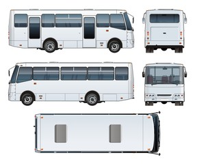 Vector urban passenger mini-bus mock-up