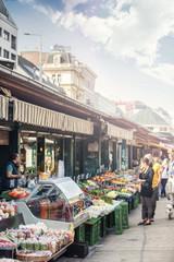 The popular Naschmarkt of Vienna