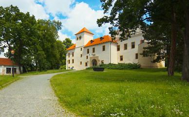 Chateau in town of Blansko, Czech Republic