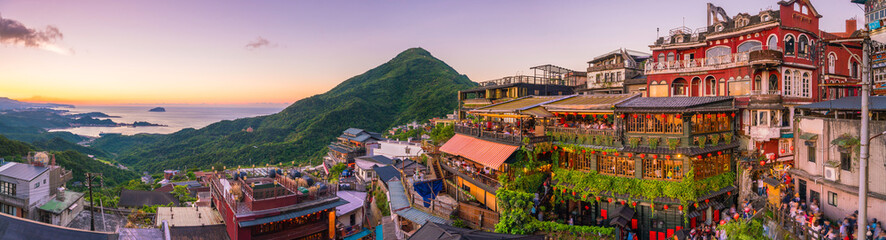 Papiers peints Lieu connus d Asie Top view of Jiufen Old Street in Taipei