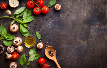 Raw ingredients for cooking Wall mural
