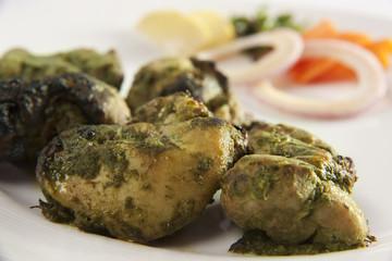 Hariyali chicken kebab