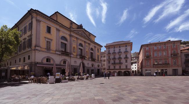 The Town Hall of Lugano at the Piazza della Riforma