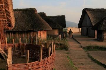 Wikingersiedlung Haithabu, rekonstruierte Wikungerhäuser