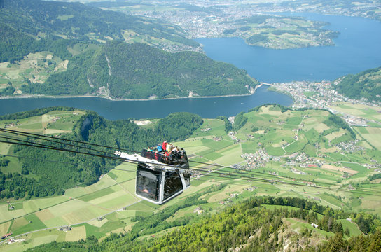 Cable car at Stanserhorn