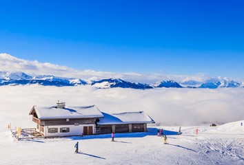On the slopes of the ski resort Soll, Tyrol, Austria