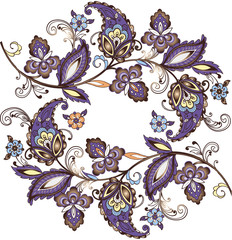 East ornament, India, Persia paisley. Vector illustration