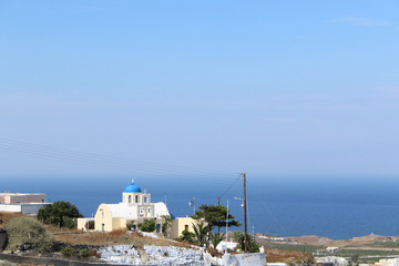 Classic Santorini Buildings and Architecture of Greece