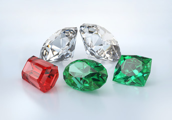 Precious beautiful stones