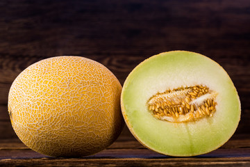 Galia melon sliced