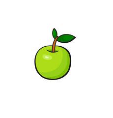 Pop art style apple sticker