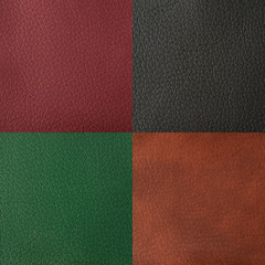 leather texture red, black, green, brown color