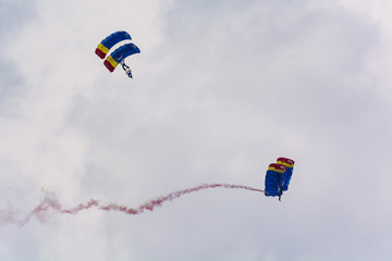Two Romanian Parachute Pairs Making a Great Show