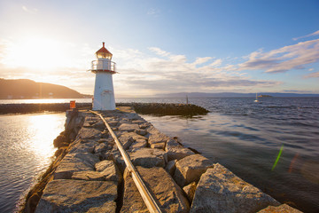 summer view of a lighthouse in Trondheim