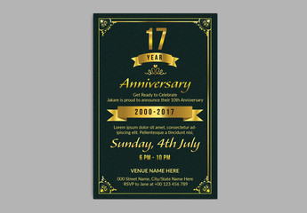 Anniversary Invitation Layout 1