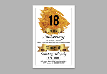 Anniversary Invitation Layout 2