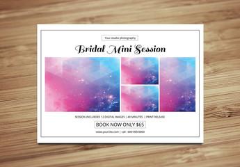 Bridal Photography Flyer Layout 1