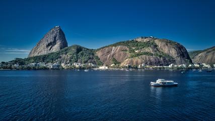 Backlit footage of Sugar Loaf Mountain, Rio de Janeiro
