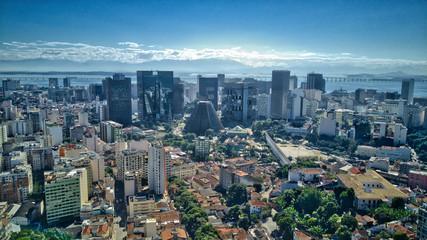 Rio de Janeiro Downtown and Morning Sky
