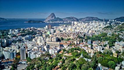Rio de Janeiro Downtown City and Ocean View