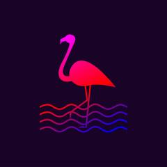 Silhouette of flamingo