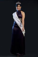 Portrait of a beauty pageant winner