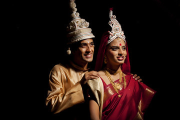 Bengali bride and groom thinking about the future