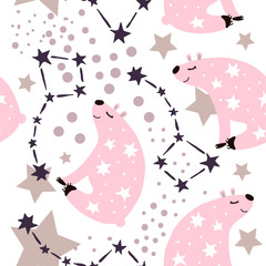 bear starry pattern