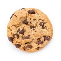 Photo sur Plexiglas Biscuit Chocolate chip cookie.