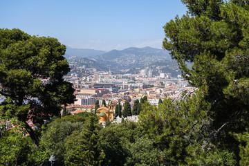 Nice city between trees