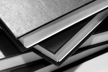 Part of the leather hardcover books