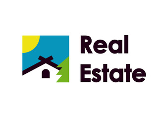Real estate square logo