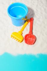 Sandbox toys in close-up