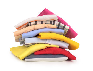 stack of clothing isolated