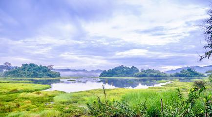 View on crocodile lake in Cat Tien National Park in Vietnam