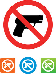 No Guns Icon - Illustration