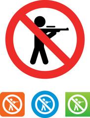 No Hunting Icon - Illustration