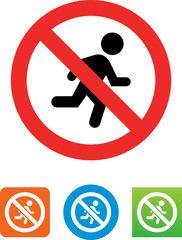 No Running Icon - Illustration