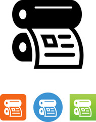 Offset Printer With Newsletter Icon